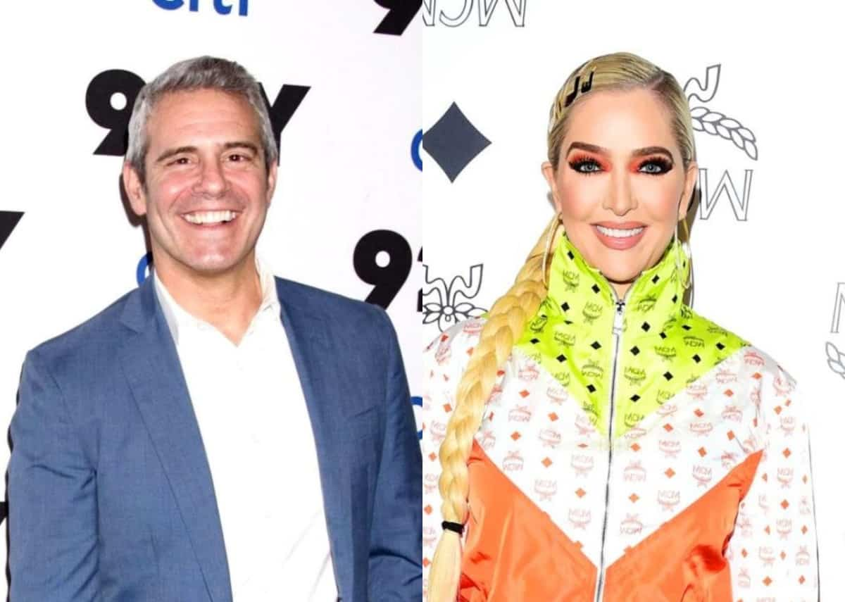 Andy Cohen Denies Erika Jayne is Refusing to Appear on WWHL Without Pre-Selected Questions as RHOBH Star Steps Out in Cleavage-Baring Dress to Film MTV Awards