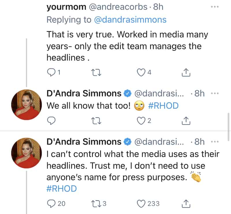 RHOD D'Andra Simmons Doesn't Need to Use Brandi Redmond for a Headline