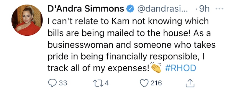RHOD D'Andra Simmons Slams Kameron Westcott for Being Unaware of Bills