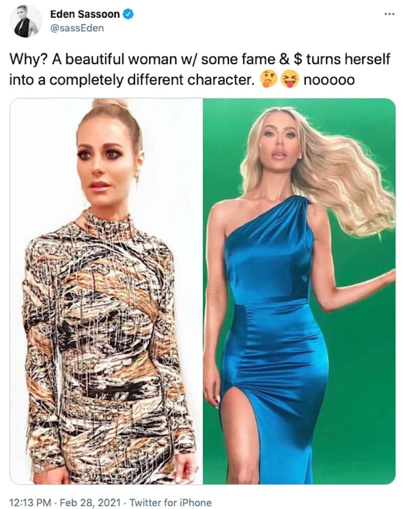 RHOBH Eden Sassoon Says Dorit Kemsley is Now a Character