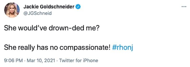 RHONJ Jackie Goldschneider Pokes Fun at Teresa Giudice Speech