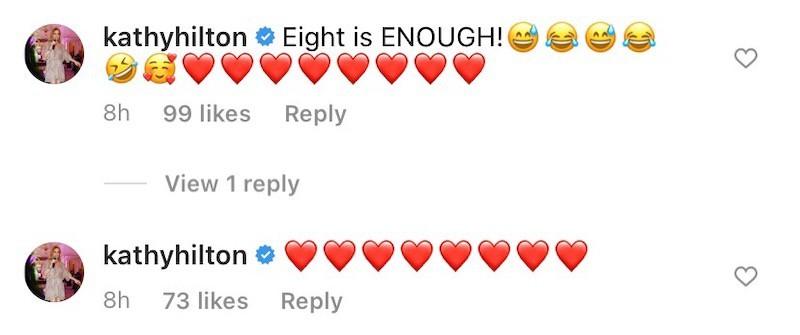 Kathy Hilton Jokes About Eight Members of RHOBH Cast