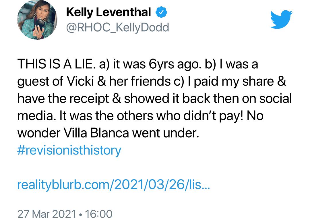 Kelly Dodd accuses Lisa Vanderpump of Lying
