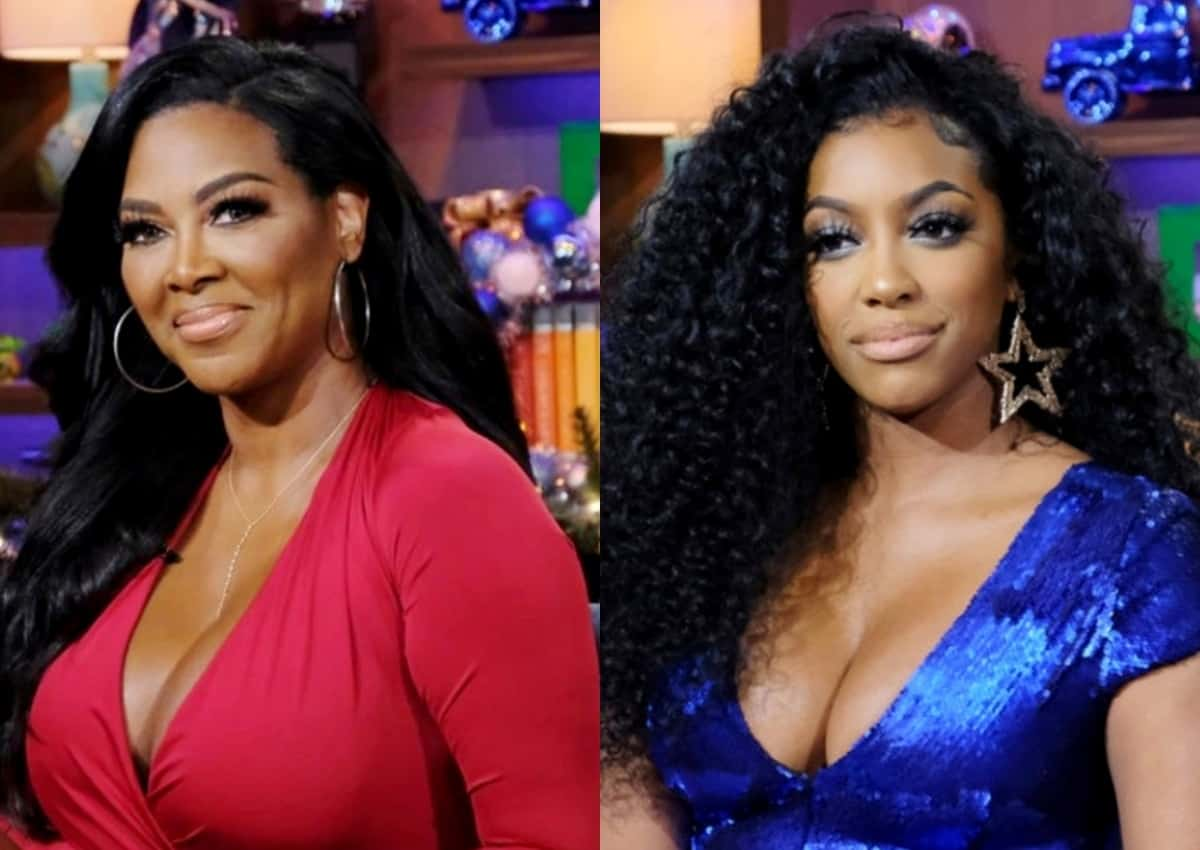 """Kenya Moore Reacts To Porsha Williams' 'Lumpy' Body Shade, Accuses RHOA Costar Of Being """"Phony"""" And Reveals Whether She's Dating Amid Separation From Marc Daly"""