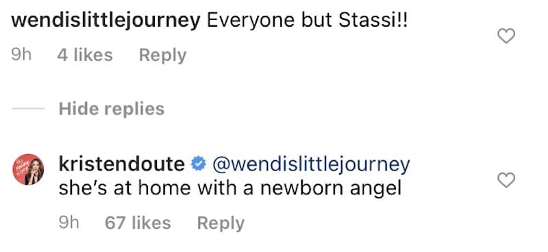 Vanderpump Rules Kristen Doute Explains Why Stassi Schroeder Didn't Attend Scheana Shay's Baby Shower