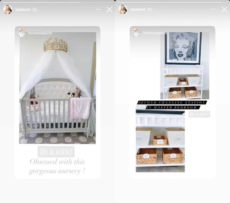 Vanderpump Rules Lala Kent Shows Off Daughter's Crib and Changing Table