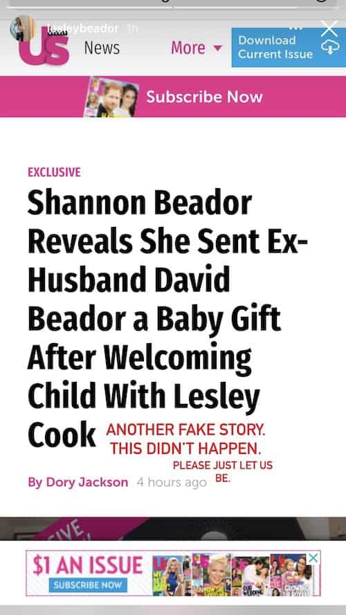 RHOC Lesley Cook Denies Shannon Beador Sent Her Baby a Gift