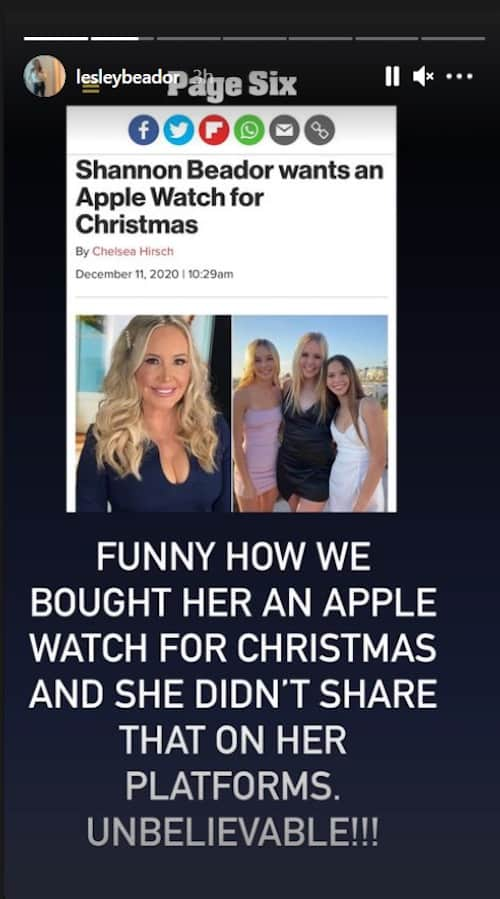 RHOC Lesley Cook Reveals She and David Bought Shannon Beador an Apple Watch