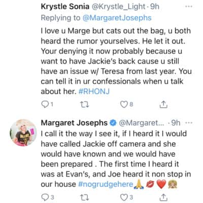 RHONJ Margaret Josephs Denies Knowing About Evan Rumor Prior to Birthday