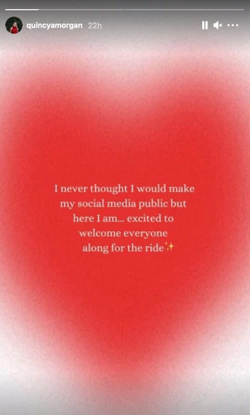 RHONY Quincy Adams Morgan Makes Instagram Account Public