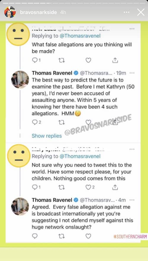 Southern Charm Thomas Ravenel Suggests Kathryn Dennis Was Behind Assault Allegations