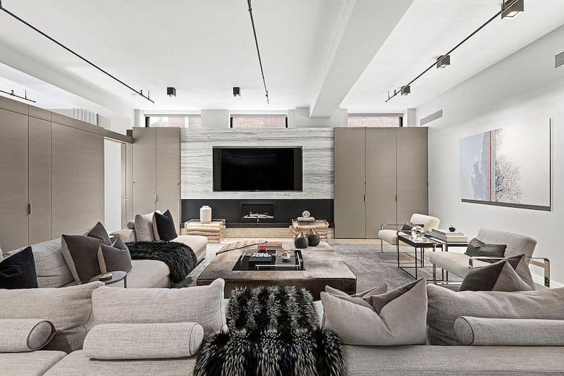 RHONY Bethenny Frankel NYC Apartment Family Room