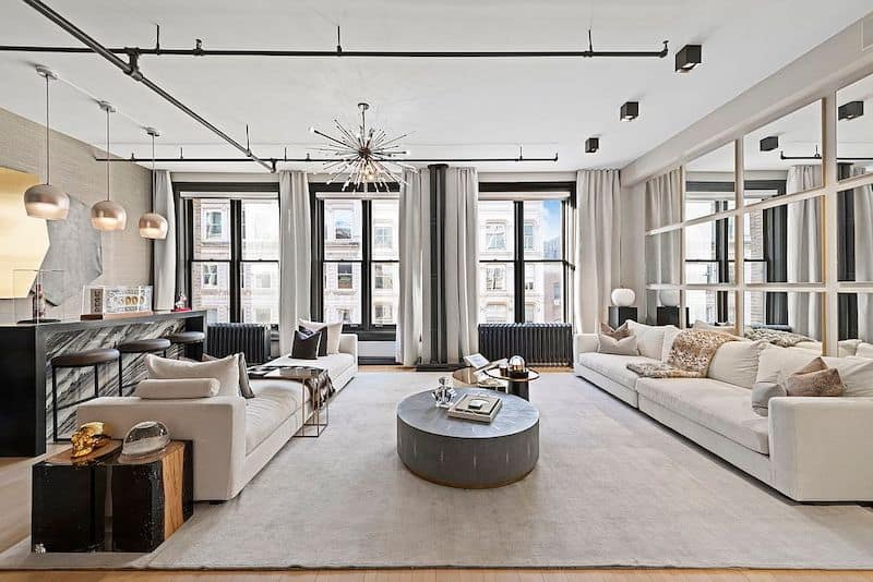 RHONY Bethenny Frankel NYC Apartment Living Room