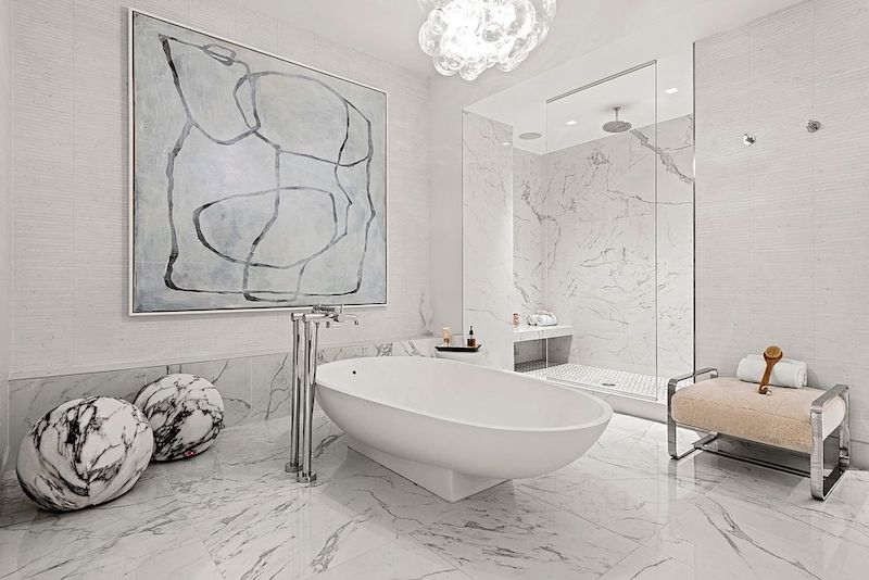 RHONY Bethenny Frankel NYC Apartment Master Bathroom