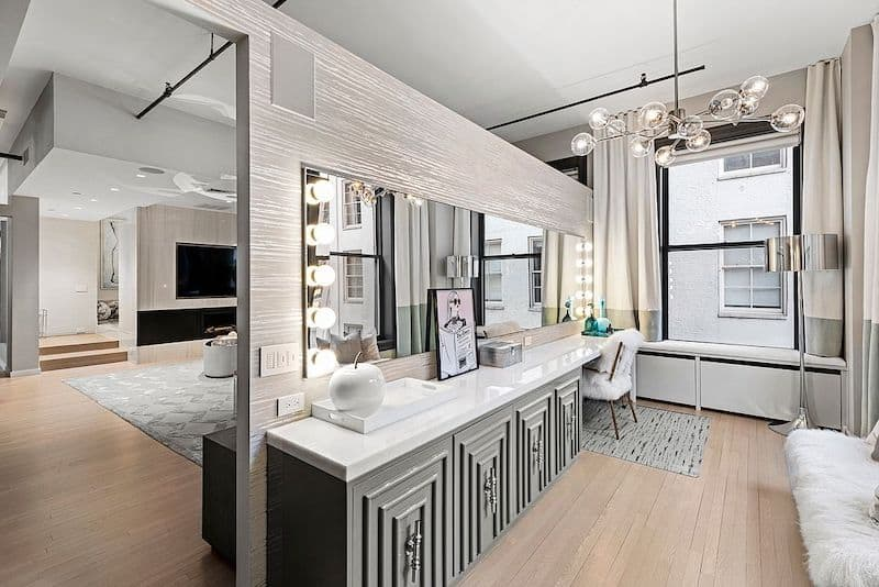 RHONY Bethenny Frankel NYC Apartment Vanity