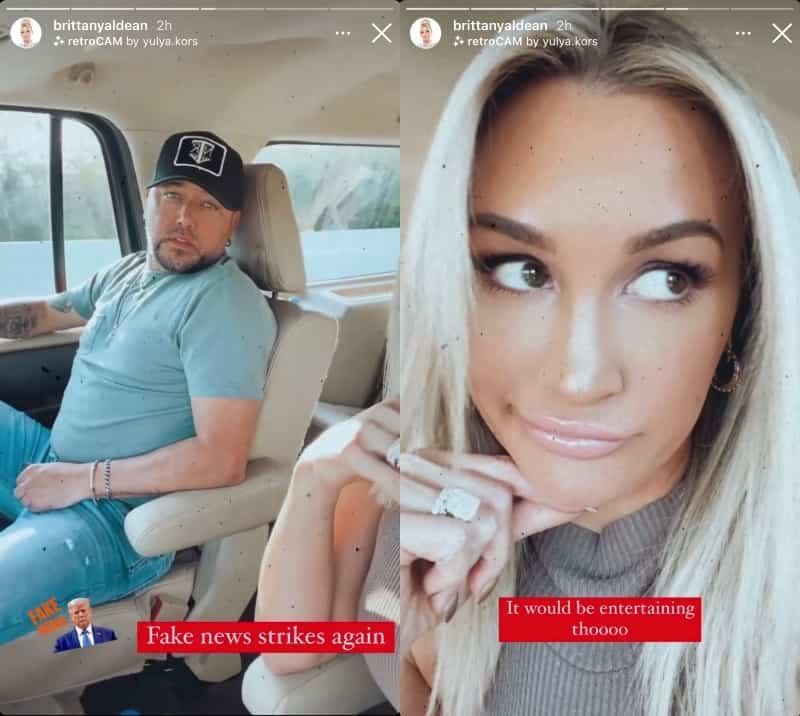Jason Aldean's Wife Brittany Aldean Denies Real Housewives of Nashville Rumors