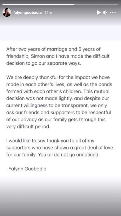 RHOA Falynn Guobadia Confirms Split From Husband Simon