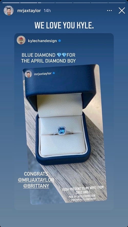 Vanderpump Rules Jax Taylor Shares Photo of Push Present for Brittany Cartwright