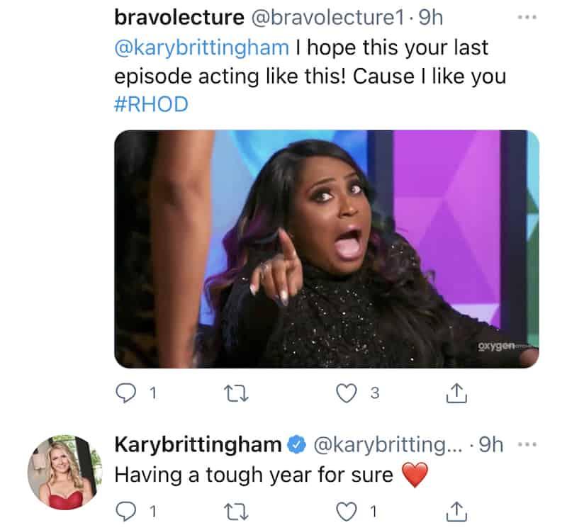 Kary Brittingham Admits to Having a Tough Year on RHOD