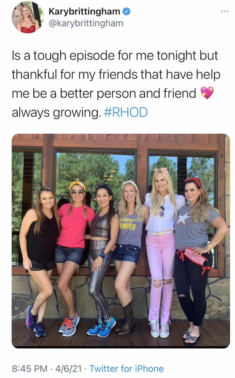 Kary Brittingham Says She's Growing After Rude Behavior on RHOD