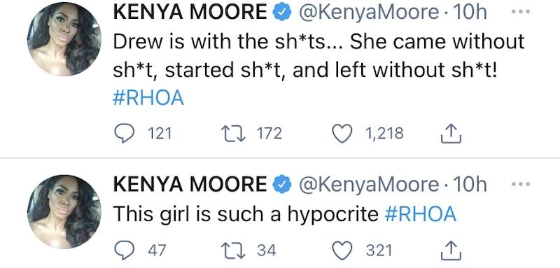 RHOA Kenya Moore Calls Drew Sidora a Hypocrite
