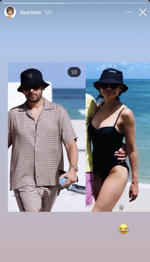 RHOBH Lisa Rinna Shares Side-by-Side Photo of Herself and Scott Disick in Bucket Hats