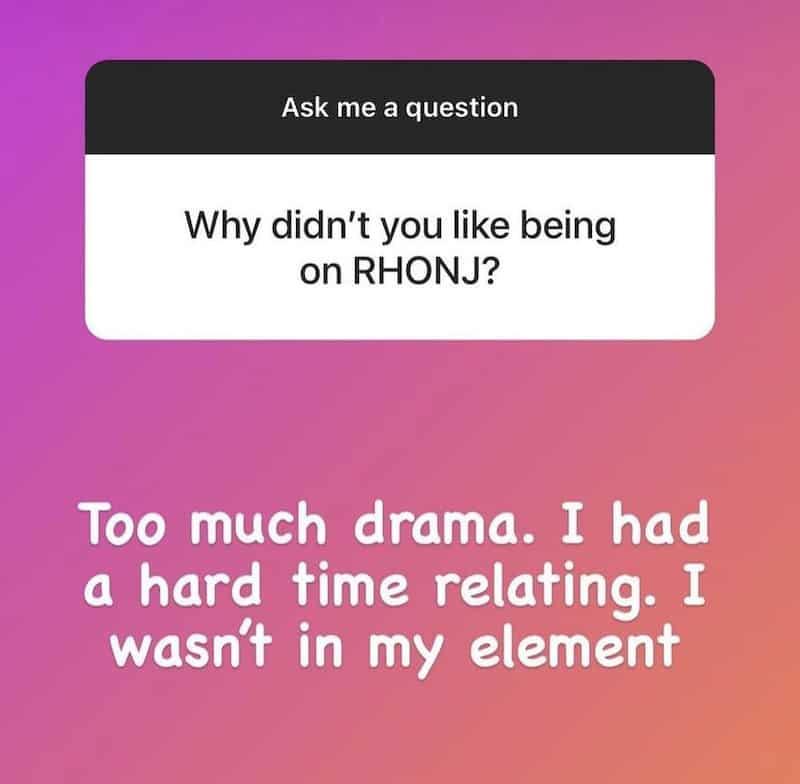 Michelle Pais Claims RHONJ Was Too Much Drama