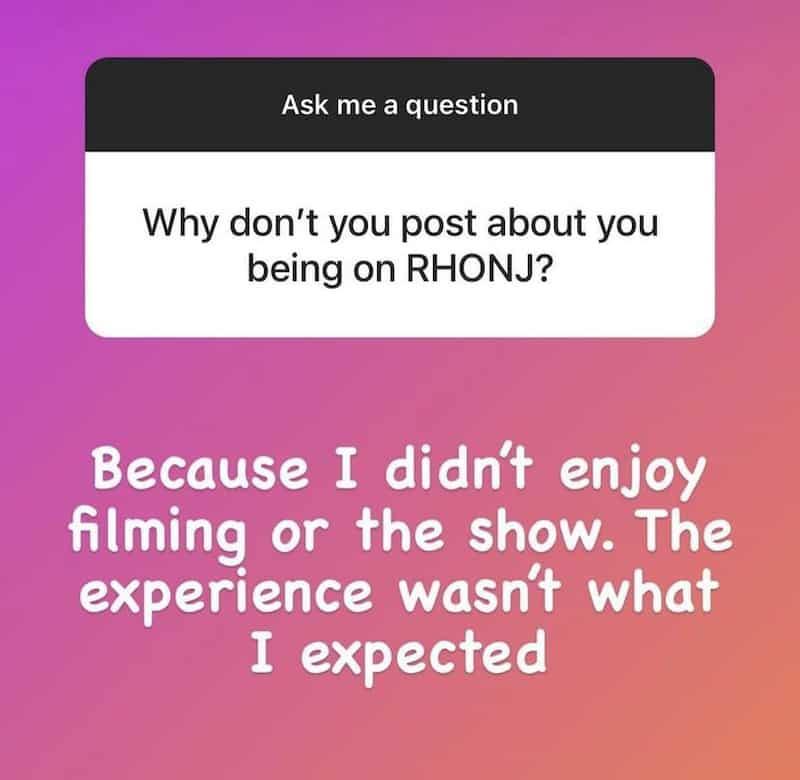 Michelle Pais Didn't Enjoy Filming RHONJ