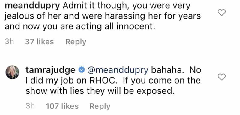 RHOC Tamra Judge Reacts to Gretchen Rossi Feud