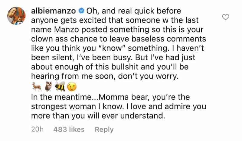 RHONJ Albie Manzo Warns of Podcast About Family Drama