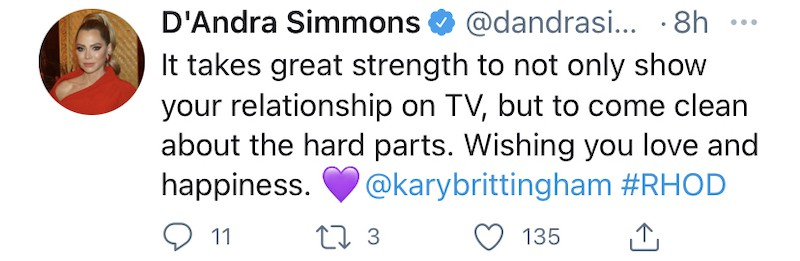 RHOD D'Andra Simmons Reacts to Kary Brittingham Divorce