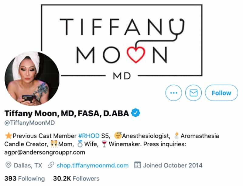 Dr. Tiffany Moon Says She's a Previous Cast Member of RHOD