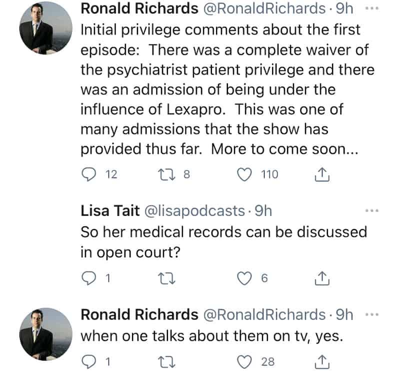 RHOBH Erika Jayne Waived Her Psychiatrist Patient Privilege on RHOBH