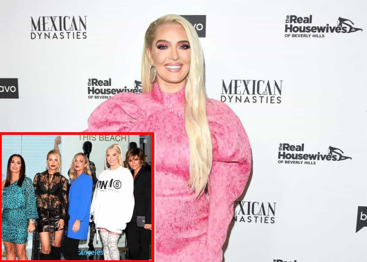 """Erika Jayne Says She's Being Made a """"Scapegoat"""" on RHOBH, Reunites with Teddi Mellencamp and the Fox Force Five, and Reacts to Kyle Richards Saying They'll Stick Together 'Through Thick [and] Thin'"""