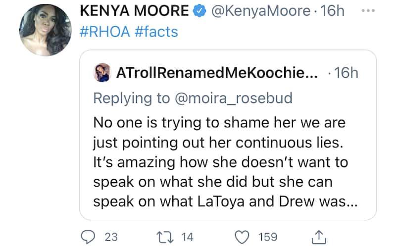 RHOA Kenya Moore Shades Porsha Williams for Continuous Lies