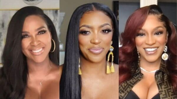 "RHOA's Kenya Moore Shades Porsha Williams' ""Continuous Lies"" and Hypocrisy, Suggests Drew Sidora Couldn't Afford Her Home Without Husband and Reacts to Her Alleged Kiss With LaToya Ali"