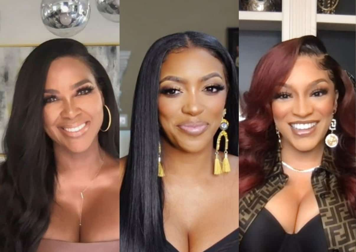 """RHOA's Kenya Moore Shades Porsha Williams' """"Continuous Lies"""" and Hypocrisy, Suggests Drew Sidora Couldn't Afford Her Home Without Husband and Reacts to Her Alleged Kiss With LaToya Ali"""
