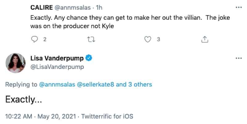 RHOBH Lisa Vanderpump Accuses Kyle Richards of Making Her a Villain