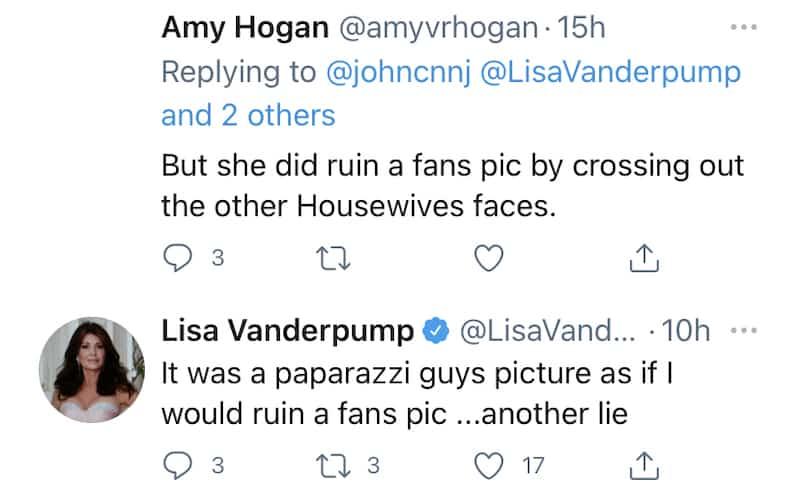 RHOBH Lisa Vanderpump Claims Kyle Richards Lied About RHOBH Fan Photo