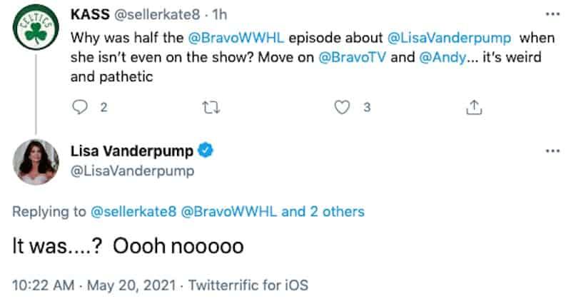 RHOBH Lisa Vanderpump Responds to WWHL Episode About Her