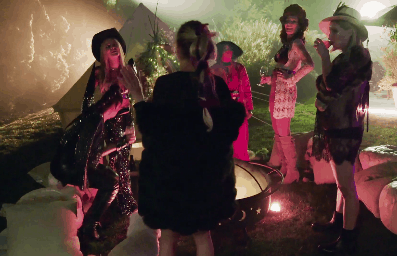 RHONY Recap: Sonja breaks down over her divorce again and the Ladies Open Up About Their Lives During Healing Session at Burning Man Themed Party