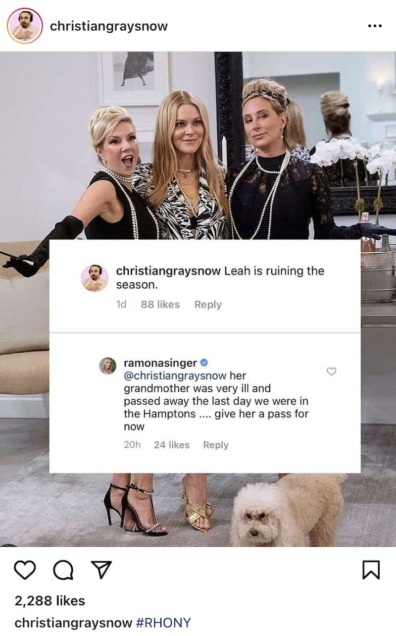 Ramona Singer Defends Leah McSweeney After She's Accused of Ruining RHONY