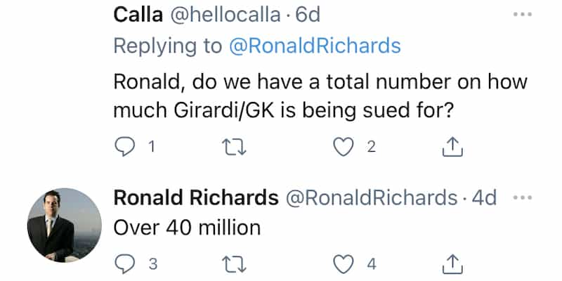 RHOBH Thomas Girardi is Being Sued for Over $40 Million
