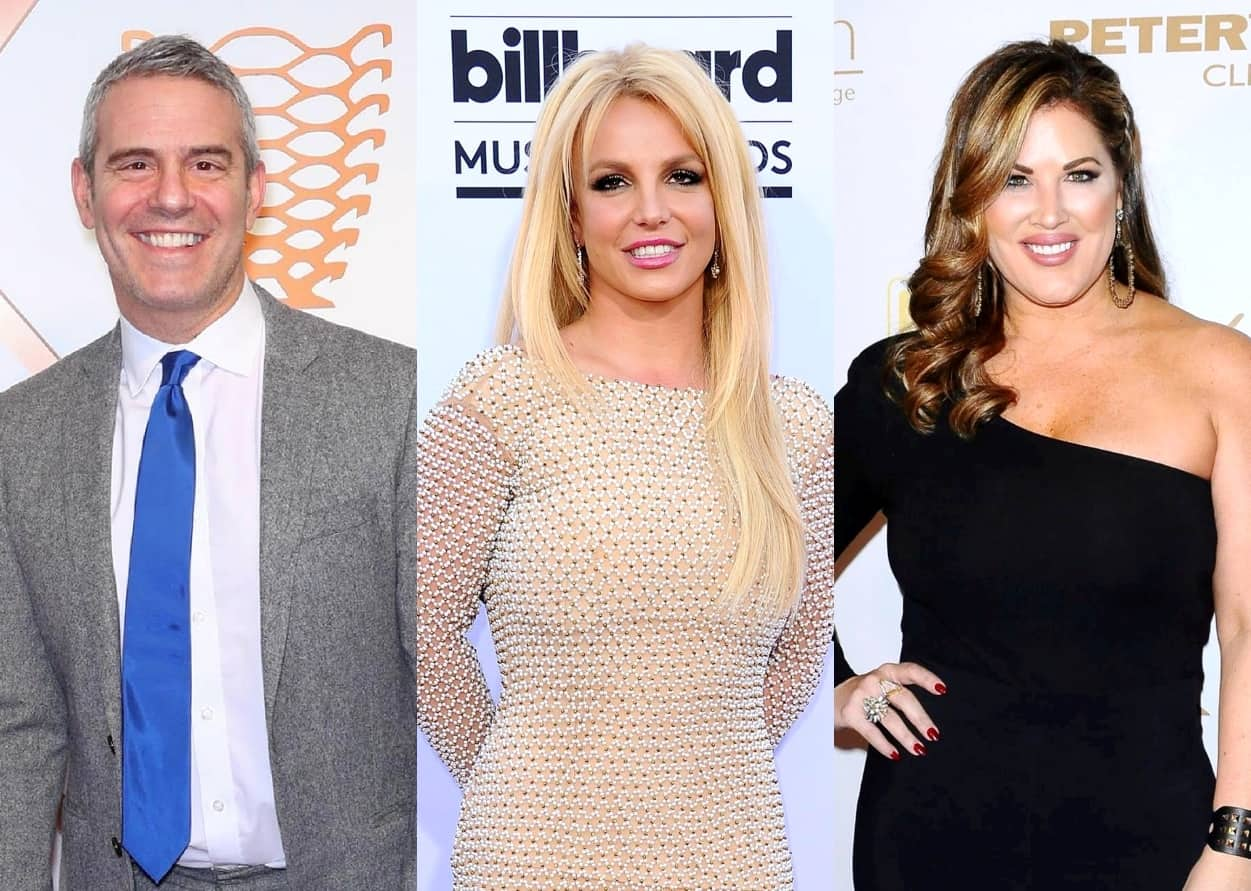 """Bravolebrities Stars Support Britney Spears as Andy Cohen Slams """"Jackhole"""" Jamie Plus Emily Simpson Says Singer's Been """"Bullied"""" Into """"Submission"""""""