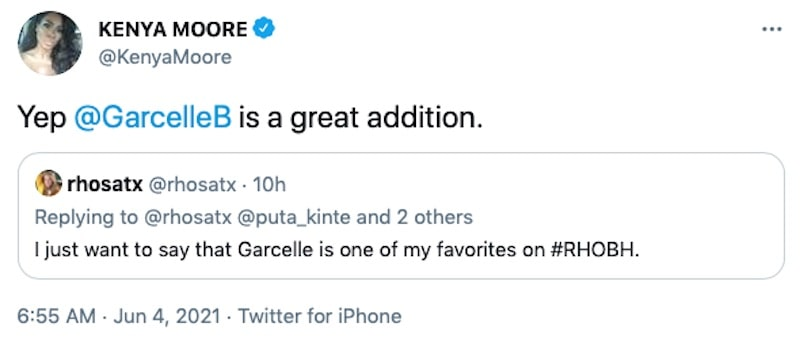 RHOA Kenya Moore Says Garcelle Beauvais is a Great Addition to RHOBH