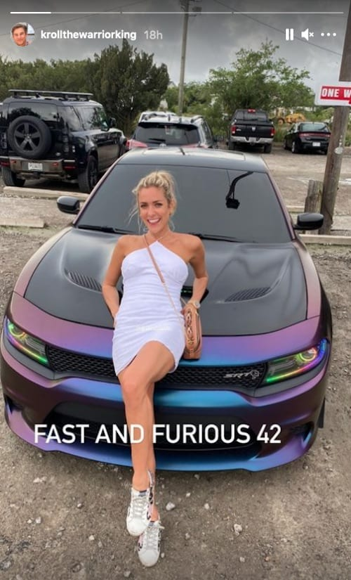 Kristin Cavallari Poses Provacatively on a Car