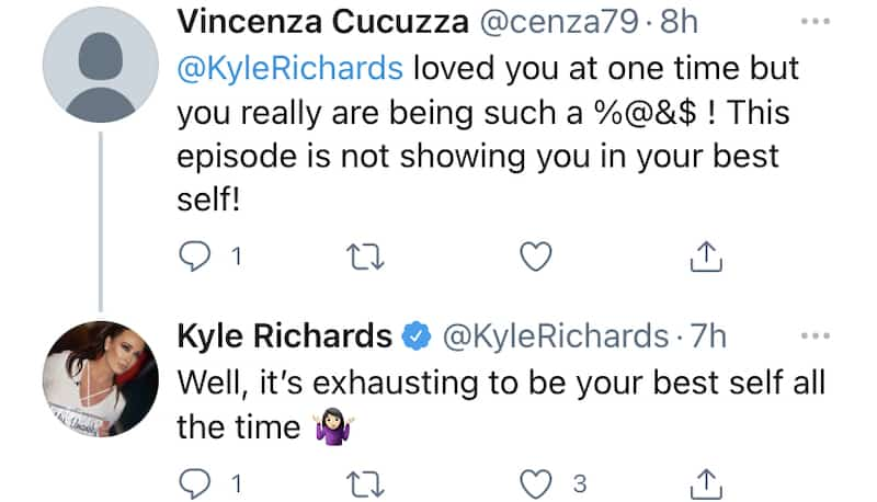 RHOBH Kyle Richards Admits She Wasn't Her Best Self on Latest RHOBH Episode