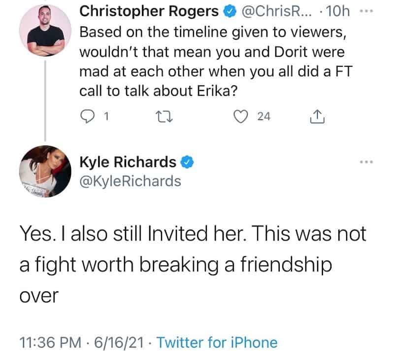 Kyle Richards Looks Back on Drama With Dorit Kemsley on RHOBH