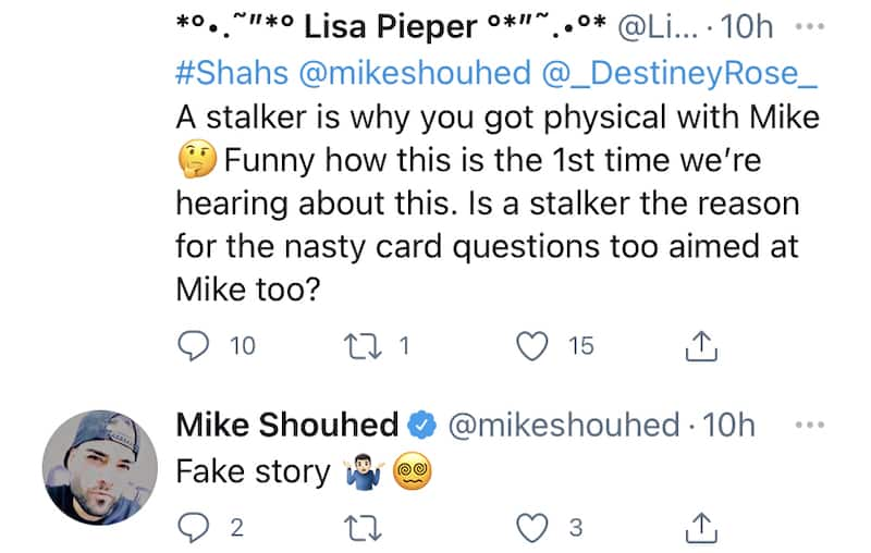 Shahs of Sunset Mike Shouhed Comments on Destiney Rose Stalker Drama