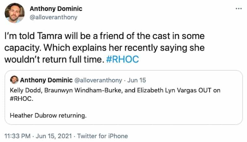 Tamra Judge to Return to RHOC for Season 16